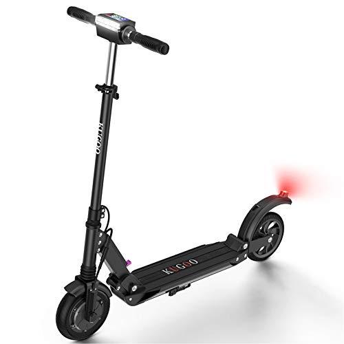 urbetter Trottinette Electrique Scooter électrique 30km la Longue portée 350W Pliable et Réglable en Hauteur Vitesse jusqu'à 30km/h pour Ados et Adulte (A Noir)
