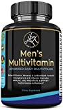 Men's Daily Multimineral Multivitamin Supplement | Magnesium, Biotin, Spirulina, Zinc, Folic Acid, Calcium, Garlic | Vitamins A C E D B1 B2 B3 B5 B6 B12 | Antioxidant, Immune and Prostate Support.