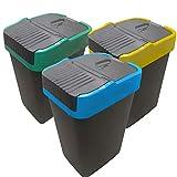 Poubelle de Tri sélectif | Bac pour le Recyclage de Plastique, Papier et Verre...