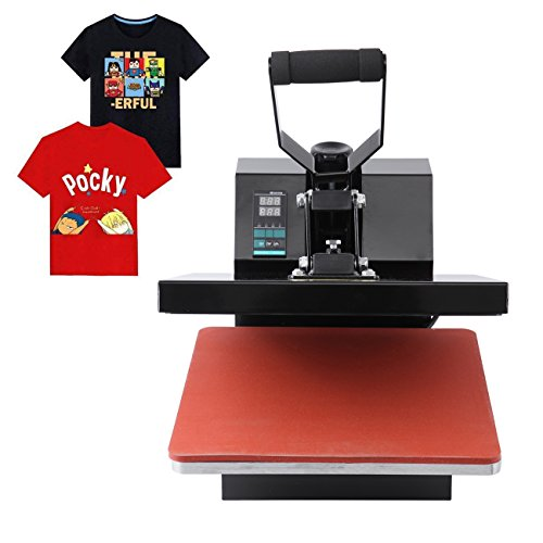 MuGuang Professional Hitze Presse Maschine überführungsmaschine T-Shirt Thermotransfer Sublimations Maschine 38cm x 38cm 0-250℃ heat press 220V