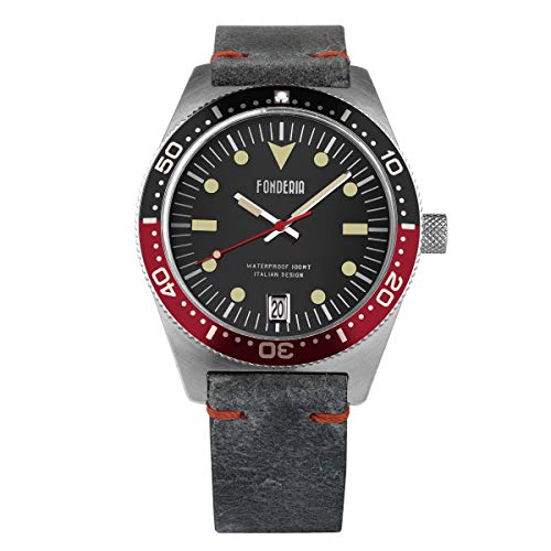 Fonderia Herren Analog Quarz Smart Watch Armbanduhr mit Leder Armband P-6A013UNR