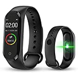 Mother Earth M4 Smart Fitness Band for Men/Women/Boys/Kids/Girls | Sports Watch Compatible with Any Smart Phone | Heart Rate and BP Monitor, Calories Counter.