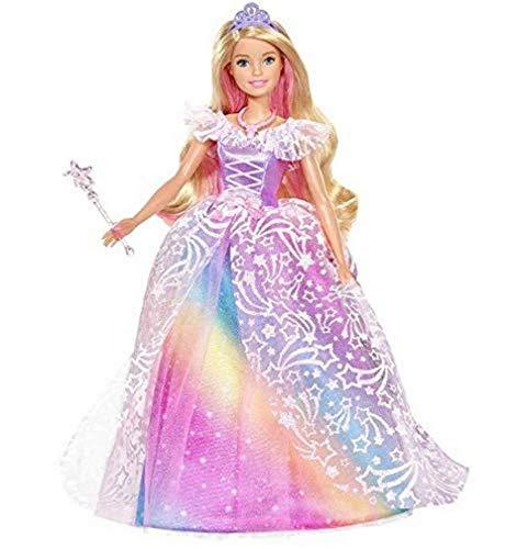 Barbie Dreamtopia Principessa Gran Gal, Bambola con Accessori, Giocattolo per Bambini 3+ Anni, GFR45