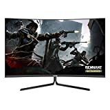 VIOTEK GN27DW 27-Inch Curved Gaming Monitor, 1440p 144Hz Samsung VA Panel, FreeSync GamePlus FPS/RTS – VESA (White)