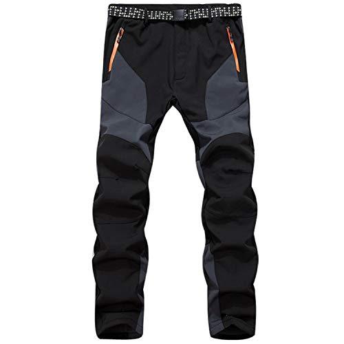 SUKUTU Hommes Outdoor Softshell Randonnée Pantalon Épaississement...
