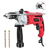Hammer Drill,Avid Power 7.0Amp 1/2-Inch 0-3000RPM Electric Drill with Dual Drill Modes, Variable Speed, 360° Rotating Handle for Drilling Brick, Wood, Steel, Masonry