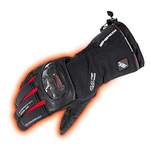 コミネ KOMINE バイク カーボンプロテク トエレクトリックグローブ 手袋 電熱 発熱 防寒 BLACK/RED XL 08-200