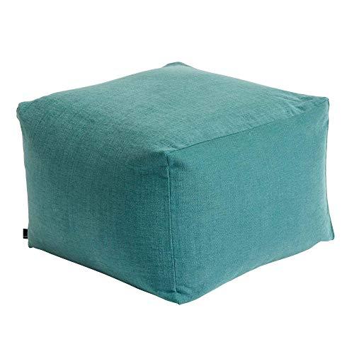 Hay Pouf, cotone verde, altezza 40 cm, profondit 59 cm