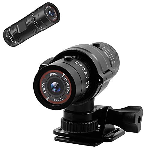 UYIKOO Caméra Sport, Caméra Moto, Caméra Vélo, HD 1080P Mini Caméra Cachée 120° Grand Angle Action avec Enregistrement en Boucle