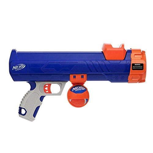 Nerf Dog Tennis Ball Blaster Dog Toy Blue/Orange,...