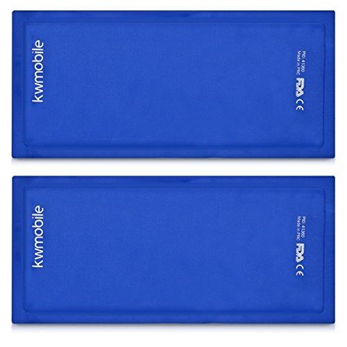kwmobile 2x Cuscinetto Gel Caldo Freddo - Cuscino in Nylon Riutilizzabile - Sacchetto Ghiaccio Sintetico Multiuso per Ogni Parte del Corpo