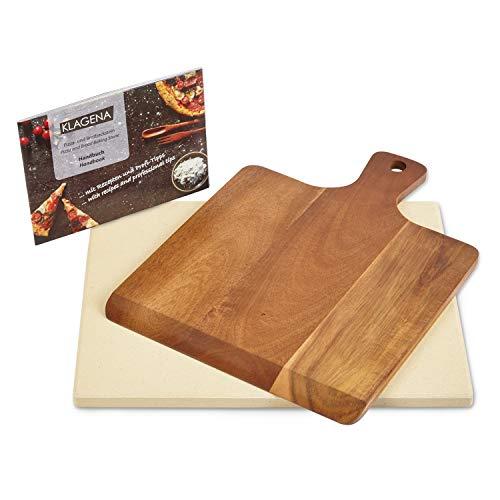 KLAGENA AS-626 Set Pietra refrattaria per Pizza, per Forno e Barbecue, incl. Pietra refrattaria e...