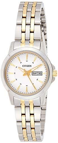 CITIZEN Damen Analog Quarz Uhr mit Edelstahl Armband EQ0608-55AE