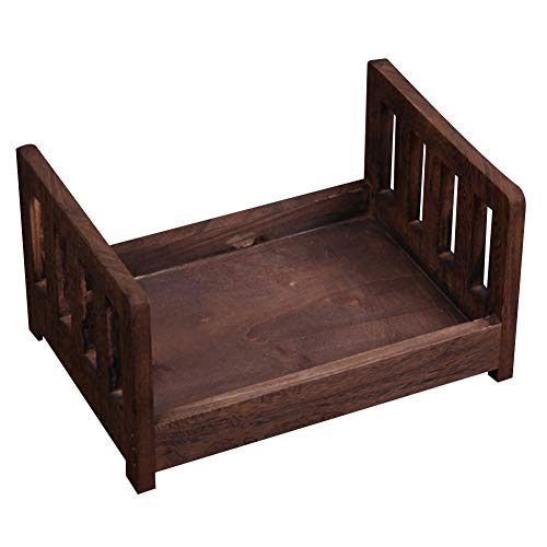 Newborn Props Photography Cot Baby Photo Small Wooden Bed Posing...