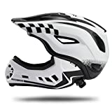 ROCK BROS Bike Helmets for Kids Full Face Mountain Bike Helmet Lightweight Bike Helmet Toddler Cycling Bicycle Helmet for Youth Toddlers Detachable Skateboard BMX Helmet Age 3-15 Year