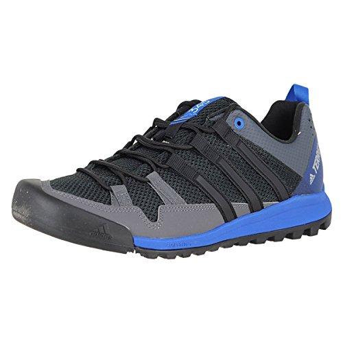 adidas New Men's Terrex Solo Hiking Shoe Black/Blue 11.5