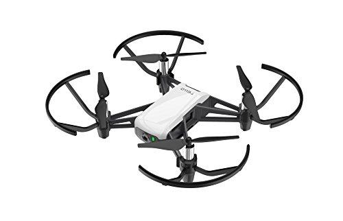 Dji Ryze Tello Mini Drone Ottimo per Creare Video con Ez Shots, Occhiali Vr e Compatibilità con Controller di Gioco, Trasmissione HD a 720P e Raggio di 100 Metri, 5 MP, Edizione Standard