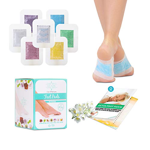 Sole Soothe Foot Pads Upgraded Premium 2 in1, 100% All Natural Foot Patches for Increased Energy, Deep Sleep, Anti-Stress, 7 Types -Ginger,Mint,Rose,Green Tea,Lavender,Coconut - 28 Counts (Box of 1)
