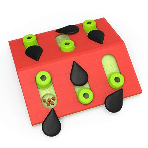 Petstages-Nina Ottosson Melon Madness-Rompecabezas para Gatos-Juguete Interactivo con dispensador de premios, Color Rosa, Un tamaño (Outward Hound 69583M)