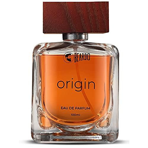 Beardo Origin Perfume For Men, 100 ml | EAU DE PARFUM | Long Lasting Perfume for Men | Strong Aqua and Musky Tones | Ideal Gift For Men