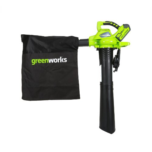 Greenworks 40V 185 MPH Variable Speed Cordless Leaf Blower/Vacuum, 4.0Ah Battery and Charger Included 24322