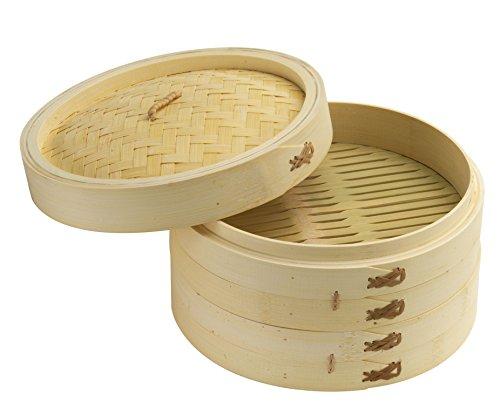 Joyce Chen J26-0013 Steamer, Bamboo, Tan