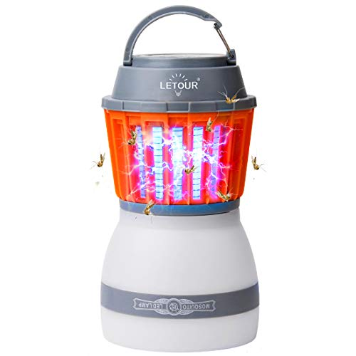 Camping Lantern 2in1 Solar Light & Outdoor Mosquito Repellent - Waterproof