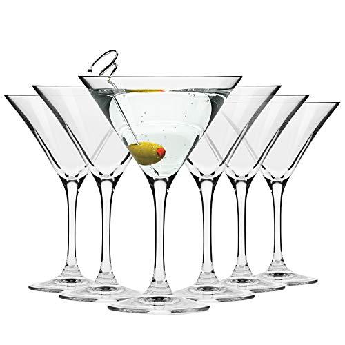 Krosno Bicchieri Cocktail Martini Bar Vetro Coppa | Set di 6 | 150 ML | Elite Collection | Ideale per la casa, Ristorante Feste e Ricevimenti | Adatto alla Lavastoviglie e Forno a Microonde
