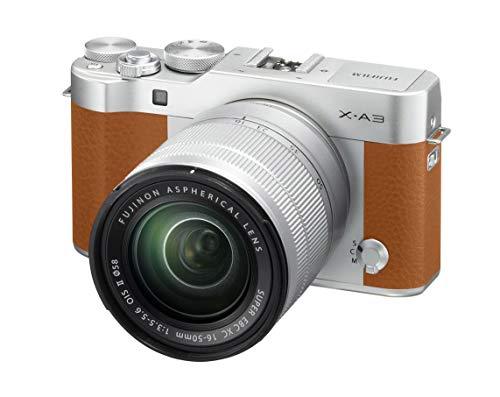 "Fujifilm X-A3 CAMEL - Cámara EVIL de 24 MP (pantalla táctil de 3"", obturador electrónico, video Full HD, Wifi) - kit cuerpo con objetivo XC 16-50 mm Camel"