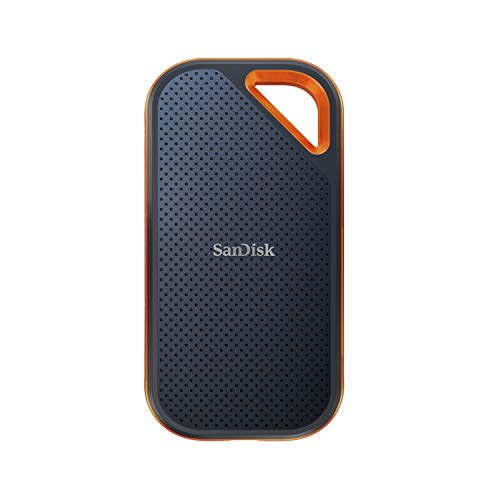 SanDisk Extreme PRO Portable SSD 1TB, up to 2000MB / s, NVMe, USB-C, Rugged and Waterproof, Carabiner Hole