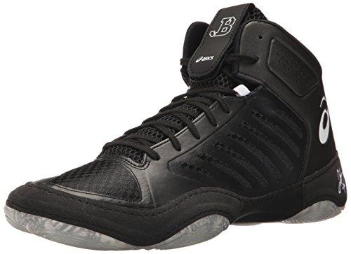 ASICS Men's JB Elite III Wrestling Shoe, Black/White, 12 Medium US