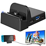 Ponkor Nintendo Switch Dock Switch Charging Dock 4K HDMI TV Adapter Switch Docking Station Charger Dock Set Good Replacement for Official Nintendo Switch Dock (Upgraded System)
