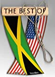 Jamaica and USA Jamaican American Caribbean Flag Rear View Mirror Hanging CAR Flags Mini Banners for Inside The CAR Unity FLAGZ