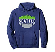 Featuring a cool Seattle skyline design, this makes a great Christmas, birthday or anniversary present for fans who love the city, football, Washington state and touchdowns. Represent your town in the best SEA design imaginable! Distressed downtown c...