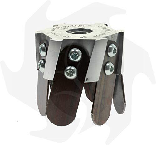 Fresa zappetta testina universale in alluminio per decespugliatore professionale