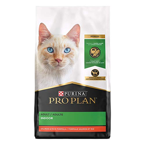 Purina Pro Plan Hairball, Healthy Weight, Indoor Dry Cat Food, FOCUS Indoor Care Salmon & Rice Formula - 3.5 lb. Bag