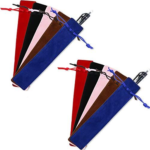 50 Pezzi Astuccio in Velluto Astuccio con Coulisse Astuccio in Velluto per Penne Astuccio con Cordino per Penne e Matita (Multicolor)