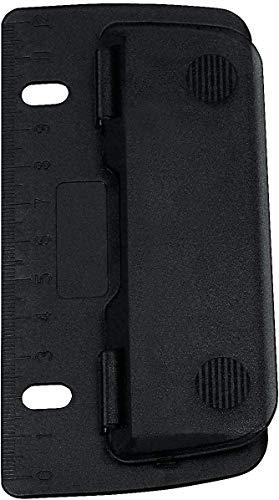Wedo 67801 Taschenlocher Kunststoff (zum Abheften für 8 cm Lochung, 2 fach, mit 12 cm Skala) schwarz