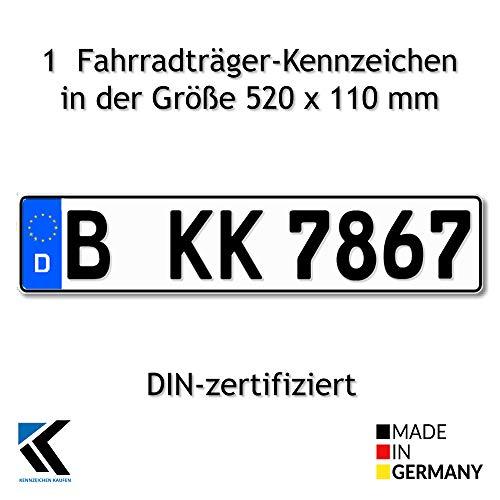 Euro-Kennzeichen   Kfz Kennzeichen DIN-zertfiziert für Deutschalnd (520x110 mm)