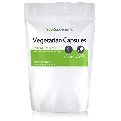 "Your Supplements - Capsule Vegetali, Vuote, Tagila ""1"", 250 Pezzi"