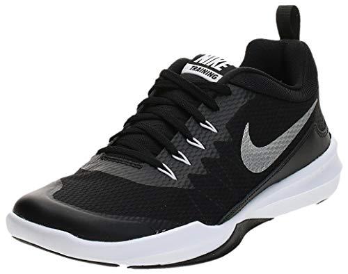 Nike Men Legend Trainer Black/Metallic Silver Leather Training Shoes-6 UK (924206 001)