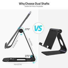 Nulaxy-A5-Tablet-Stand-Fully-Foldable-Tablet-Holder-Stand-Compatible-with-iPad-Pro-129105-97-Air-Mini-4-3-2-iPhone-11-pro-Xs-Max-Xr-X-Kindle-Nexus-Tab-E-Reader-47-13-Black