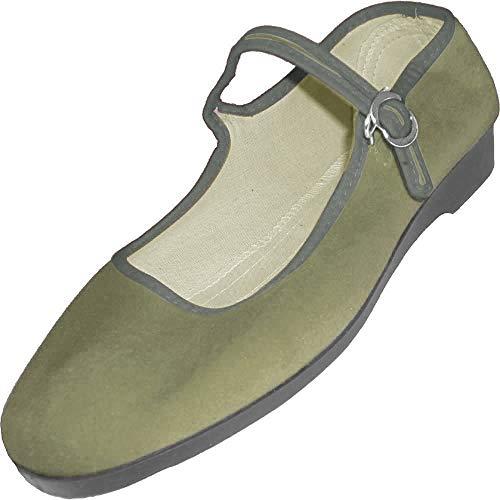China de terciopelo zapatos, tallas 33 - 42, muchos colores, color Verde, talla 38 EU