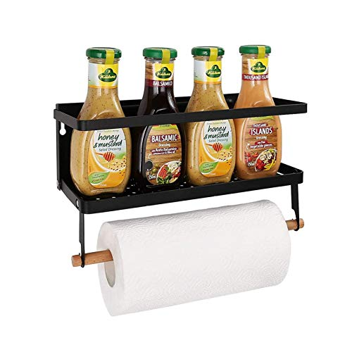 Haturi Magnetic Shelf, Magnetic Paper Towel Holder Fridge Spice...