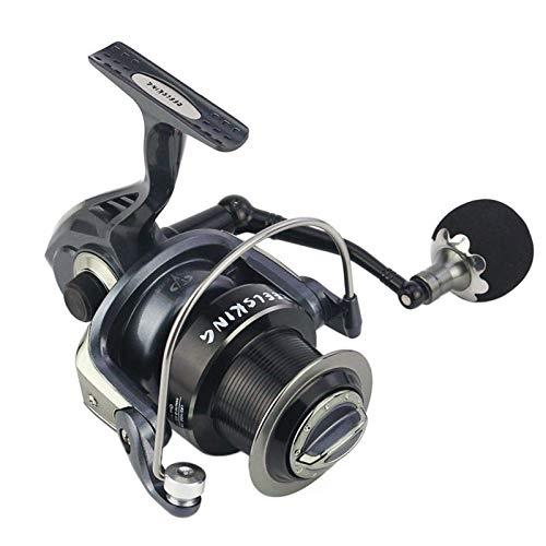 Mulinello Da Pesca Spinning Mulinello Da Pesca Spinning Full Metal A Ruote DistantiLeggero (Size:4000; Color:Black)