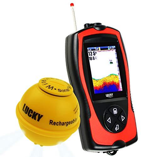 LUCKY Senza Fili Sonar Pesce Finder Luce Lure Sensore Fishfinder Mare Pesca 45m profondit 100m Operativo Gamma