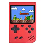 Mini Retro Handheld FC Games Consoles ,Built-in 400 Classic Game, Portable Gameboy 3 Inch LCD Screen 1000mAh Rechargeable Battery TV Output ,Good Gifts for Kids Boys Girls Men Women (Consoles-Red)