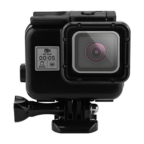 Custodia impermeabile EREACH per GoPro 5, 40m Custodia protettiva impermeabile portatile subacquea con custodia per staffa per Gopro Hero 5 (HERO5 Black)