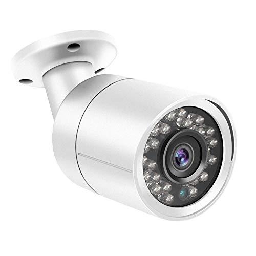 Telecamera da esterno Bullet Dericam 1080P 1920TVL, Telecamera analogica HDCVI/HDTVI/AHD/960H, Custodia metallica IP66, Visore notturno da 25 metri, 85° Visualizzazione, Formato video PAL, B2W, Bianca