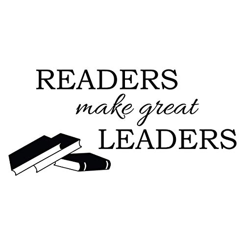 Readers Make Great Leaders Wall Decal Classroom Quote Door Decorations Teacher Reading Book Corner Art Library Decor